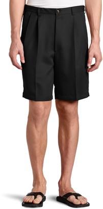 Haggar Men's Big-Tall Cool 18 Gabardine Hidden Expandable Waist Pleat Front Short