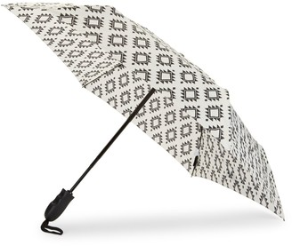 ShedRain Geometric-Print Folding Umbrella