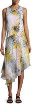 Diane von Furstenberg Klarra Asymmetric Splatter-Print Silk Dress