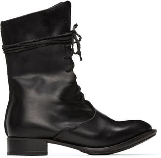 Cherevichkiotvichki Black Overlap Boots