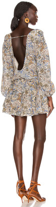 Redemption Paisley Loose V Neck Dress in Multicolor | FWRD