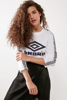 Umbro X UO Logo Cropped Long Sleeve Tee