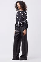 Diane von Furstenberg Stanton Wide Leg Leather Trouser