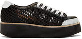 Flamingos Black Mesh Tatum Sneakers