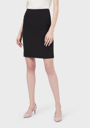 Giorgio Armani Silk Cady Tube Skirt