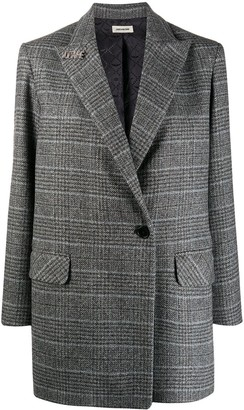 Zadig & Voltaire Houndstooth Single-Breasted Coat