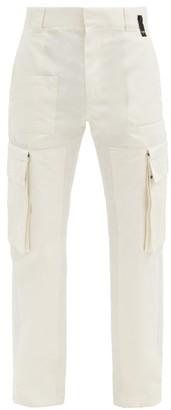 Fendi Cotton-blend Cargo Trousers - White