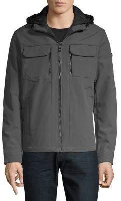 Michael Kors Front-Zip Hooded Jacket