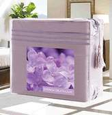 Elegant Comfort Wrinkle-Free 1500 Thread Count Egyptian Quality Deep Pocket, 4-Piece Bed Sheet Set , Full, Syringa Oblata-Lilac
