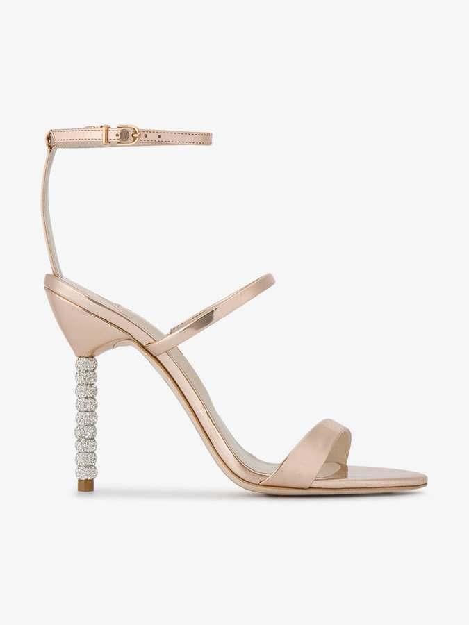 Sophia Webster Rose Gold rosalind crystal 110 sandals