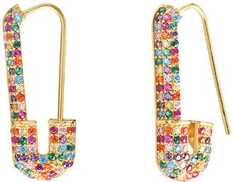 GABIRIELLE JEWELRY Gold Over Silver Cz Earrings