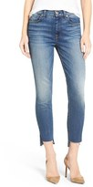 7 For All Mankind Crop Step Hem Skinny Jeans (Distressed Authentic Light 3) (Nordstrom Exclusive)