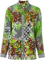 Versace floral Greco print blouse