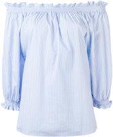 Xacus off-shoulder frill trim blouse