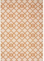Threadbind Somers Hand-Hooked Taupe/Orange Indoor/Outdoor Area Rug Rug