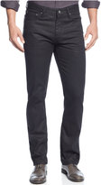 Alfani Alfa Deker Straight-Fit Coated Black-Wash Jeans, Only at Macy's