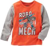 Osh Kosh Boys 4-8 Long Sleeve Comic Book Graphic Tee