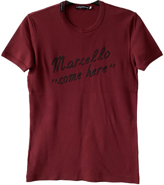 Dolce & Gabbana Red Cotton T-shirts