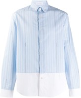 J.W.Anderson striped panelled shirt