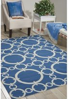 Waverly Sun N' Shade Connected Navy Area Rug by Nourison (5'3 x 7'5)