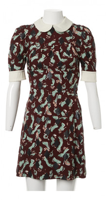 Louis Vuitton Burgundy Viscose Dresses