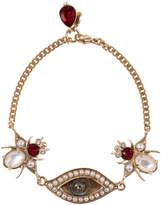 Alexander McQueen Crystal Embellished Eye Bug Bracelet