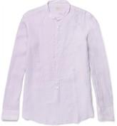 Massimo Alba - Kos Grandad-collar Linen Shirt