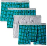 Fruit of the Loom Men's Assorted Color Short Leg Boxer Brief(Pack of 4)