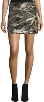 Romeo & Juliet Couture Sequined Camo Miniskirt