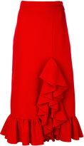 MSGM ruffle trim skirt
