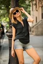 Blank NYC Polka Dot Denim Shorts