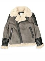 Diesel Little Boy's & Boy's Jiento Faux Fur Trim Moto Jacket