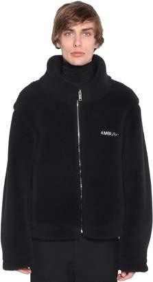 Ambush High Collar Zip Up Wool Jacket