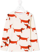 Mini Rodini dog print longsleeved T-shirt