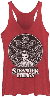 Licensed Character Juniors' Netflix Stranger Things Eleven & Demogorgon Circle Graphic Tank