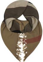 Burberry House check merino wool scarf