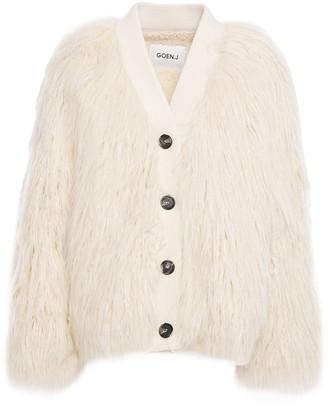 GOEN.J Ribbed Knit-trimmed Faux Shearling Jacket