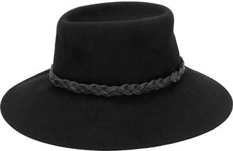 Giorgio Armani Pre Owned 1980's braided fedora hat