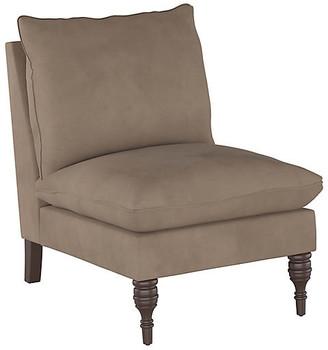 One Kings Lane Daphne Slipper Chair - Smoke Velvet