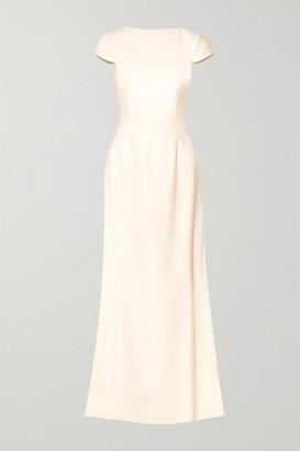 Halfpenny London Fern Open-back Crepe Gown - Ivory