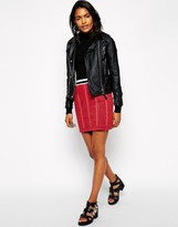Asos Mini Skirt with Embellished Check