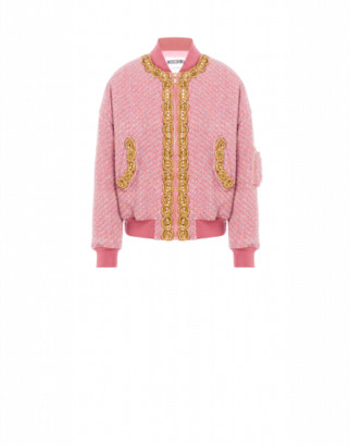 Moschino Boucle Bomber Gold Trimming