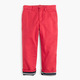 J.Crew Boys' jersey-lined cozy chino pant