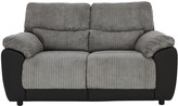 Sienna Fabric/Faux Leather Static 2 SeaterSofa