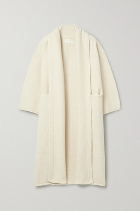 LAUREN MANOOGIAN Long Shawl Alpaca-blend Cardigan - White