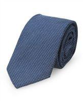 Calvin Klein Black and Blue Micro Check Tie
