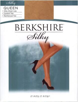 Berkshire Women's Plus-Size Queen Silky Sheer Control Top Pantyhose 4489