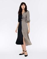 Thumbnail for your product : Diane von Furstenberg Michelle Silk Crepe De Chine Midi Dress in Vintage Logo