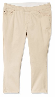 Jag Jeans Women's Plus Size Maya Skinny Pull On Crop Pant