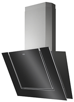 AEG DVK6680HB Angled Chimney Cooker Hood, Stainless Steel/Black Gloss